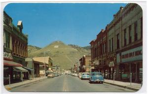 F Street Scene Cars Mt Tenderfoot Salida Colorado 1950s postcard