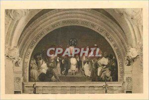 Postcard The Old Chapel of the Carmelites of Lisieux Fresco overcoming Grid C...