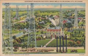Oklahoma City Governors Mansion And State Owned Wells In Oklahoma City 1956