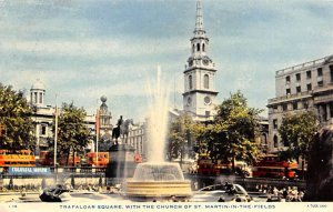 Trafalgar Square with the Church of St Martin in the Fields United Kingdom, G...