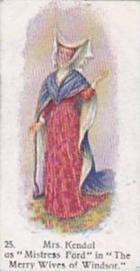 Player Vintage Cigarette Card Players Past & Present No 25 Mrs Kandal