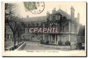 Old Postcard Bank city of Vierzon Hotel Caisse d & # 39Epargne
