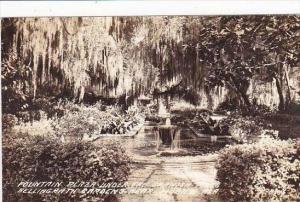 Alabama Mobile Bellingrath Gardens Fountain Under Oak Tree &amp  Spanish Moss...