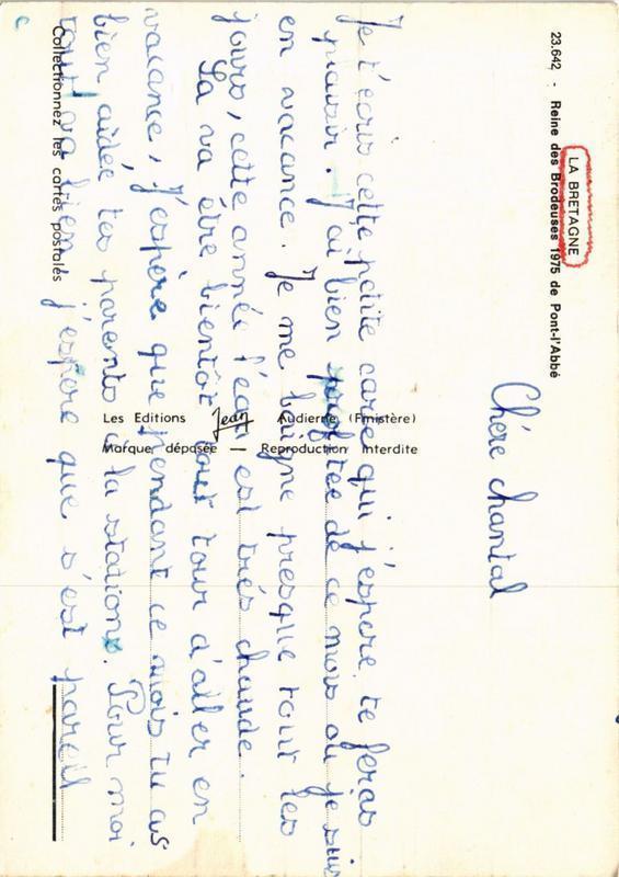 CPM La Bretagne Reine des Brodeuses 1975 Pont-l'Abbé FOLKLORE (752867)