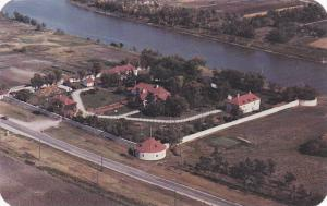 An aerial view of historic Lower Fort Garry,   Winnipeg,  Manitoba,  Canada, ...