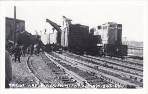 Train Wreck Chelmsford Massachusetts 27 March 1963 Real Photo