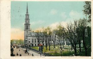 Boston Massachusetts~Granary Burying Ground~Park Street Church~Detroit Pub~1909