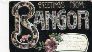 Large Letter BANGOR , Maine , 1900-10s