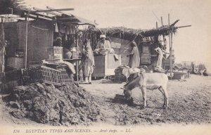 Arab Shops , EGYPT , 00-10s; Donkey drinking water