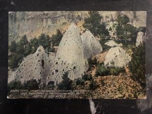 Mint USA RPPC Postcard Stone Tents In The Canyons West Of Santa Fe New Mexico
