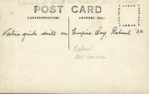 papua new guinea, RABAUL, Native Girls Drill on Empire Day (1934) RPPC