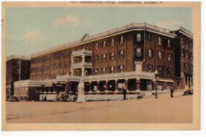 SHERBROOKE, Quebec, Canada, PU-1931; New Sherbrooke Hotel, Classic Cars