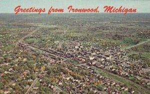 Michigan Ironwood Aerial View Of Ironwood