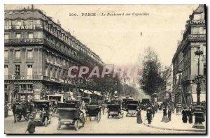 Postcard Old Paris Le Boulevard des Capucines