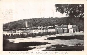 New York NY Real Photo RPPC Postcard 1942 ELMSFORD Sanotone Labs Factory