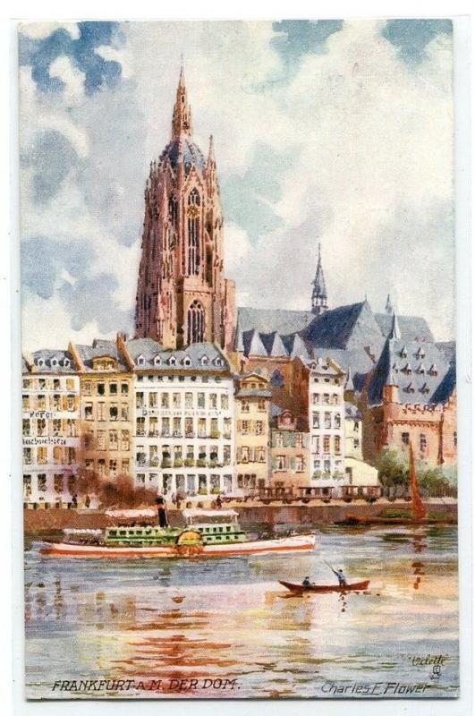 Dom Cathedral Frankfurt am Main Germany artist Charles Flower Tuck postcard