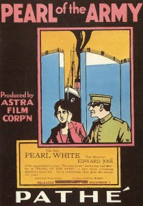 Pearl Of The Army White Military Film Movie Poster Postcard