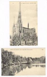 2 PC´s, St. Cecelia´s Church, Mirror Lake, Coggshell Park, Leominster, Mass...
