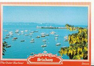 Devon Postcard - The Outer Harbour - Brixham - Ref 20776A