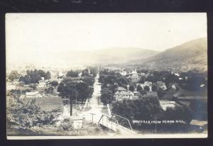 RPPC NOXVILLE FROM FORKS HILL BIRDSEYE VIEW VINTAGE REAL PHOTO POSTCARD
