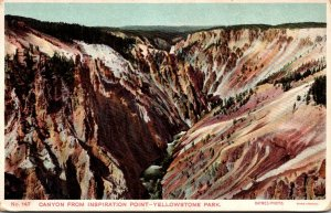 Yellowstone National Park Canyon From Inspiration Point Haynes Photo