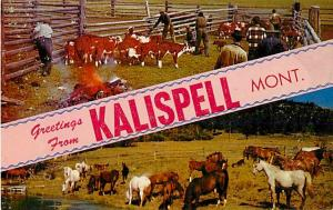 Greetings from Kalispell Montana, MT, Chrome