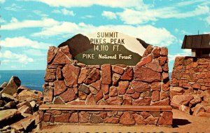 Colorado Colorado Springs Pikes Peak Summit Marker