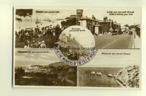 h0245 - The Five Wonders of the Isle of Wight - postcard by Nighs
