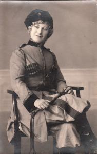 Social history early photography military beauty woman uniform