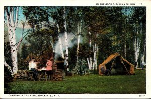 New York Adirondacks Camping In The Good Old Summer Time Curteich