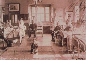 Darker Ward St Bartholomews Hospital London Postcard