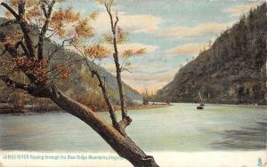 Blue Ridge Mountains Virginia James River Waterfront Antique Postcard K82679