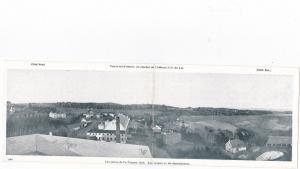 Bifold Postcard; Les terres de La Trappe, Quebec , Canada , 1930s Les vergers et
