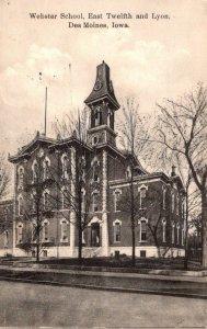 Iowa Des Moines Webster School East Twelfth and Lyon 1909