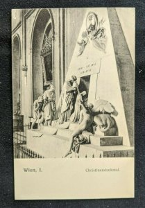 Mint Vintage Christine Denkmal Vienna Austria Real Picture Postcard RPPC