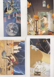 Goldfish Floating In Air Louise Larmilowicz 4x Painting Postcard s