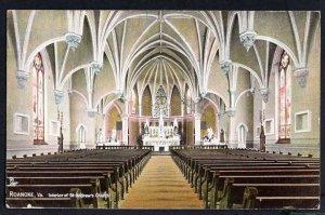 Virginia ROANOKE Interior of St. Andrews Church pm1909 - DB