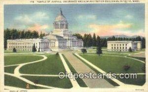Olympia, Washington, WA State Capital USA Unused