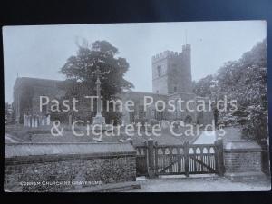 Kent COBHAM CHURCH near Gravesend - Old RP Postcard