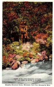 Minnesota Minneapolis Minnehaha Falls Park Hiawatha-Minnehaha Statue