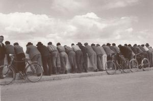 Portugal Street Procession Of Bicycles Bored Owners Photo Award Postcard