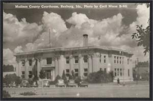 Rexburg Idaho Madison County Court House Real Photo Postcard RPPC Cecil Nixon