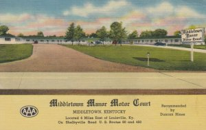 MIDDLETOWN , Kentucky , 30-40s ; Middletown Manor Motor Court
