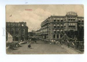 173798 CEYLON COLOMBO view street advertising Vintage postcard