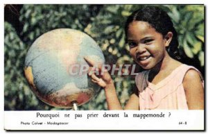 pious image Why not pray in front of the world map Madagascar