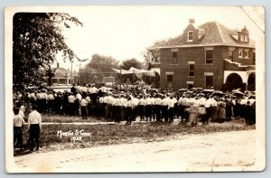 RPPC Catholics?* Near Pavilion @ American Square Home c1920 Real Photo Postcard