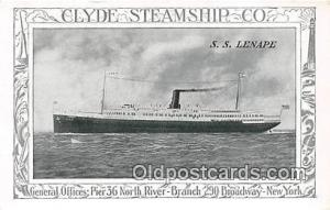 SS Lenape Clyde Steamship Co, New York USA Ship Postcard Post Card Clyde Stea...