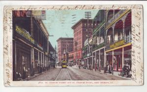 P1116 1905 stamped st charles st & hotel trolly store signs etc new orleans la