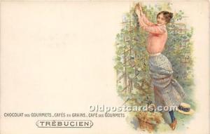 Advertising Postcard - Old Vintage Antique  Chocolat des Gourmets Cafes en Gr...