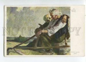 264902 Old Man & DEATH Skeleton Grim Reaper by Erich LAMM old